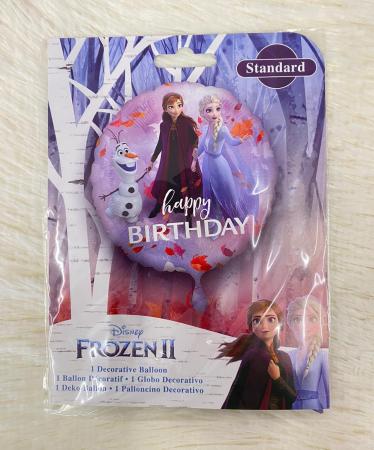 Balon folie rotund Frozen 2 Happy Birthday 43 cm2