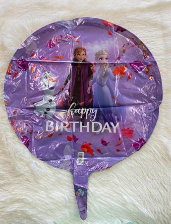 Balon folie rotund Frozen 2 Happy Birthday 43 cm1