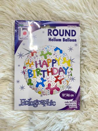 Balon folie rotund Happy Birthday catei baloane 46 cm [3]