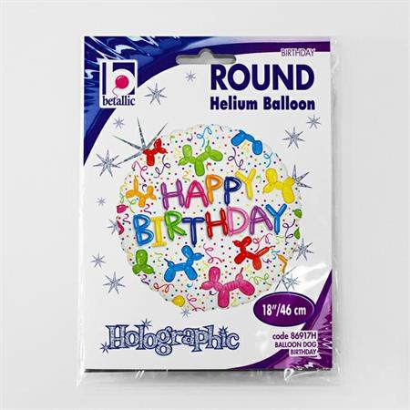 Balon folie rotund Happy Birthday catei baloane 46 cm [2]