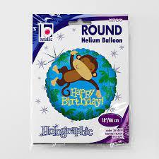 Balon folie rotund Happy Birthday maimuta 46 cm [3]