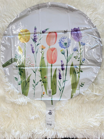 Balon folie rotund flori lalele 43 cm [1]