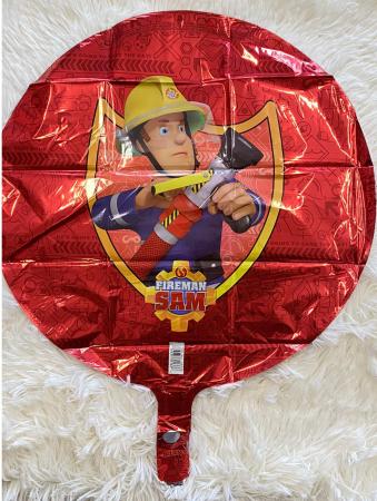 Balon folie rotund rosu Pompierul Sam 45 cm [1]