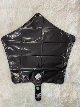 Balon folie stea neagra 43 cm1