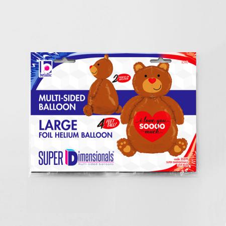 Balon folie urs I LOVE YOU SOOO MUCH 120 cm2