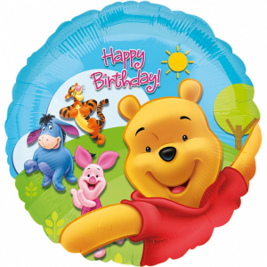 Balon folie Winnie the Pooh & Friends Happy Birthday 43cm 0805181574960