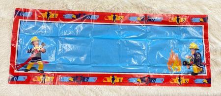 Banner plastic personalizabil Pompierul Sam 120 * 45 cm1