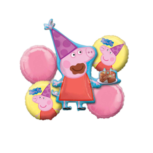 Buchet 5 baloane folie Peppa Pig 0266353130180