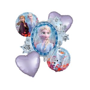 Buchet 5 baloane folie Frozen 2 00266354038940