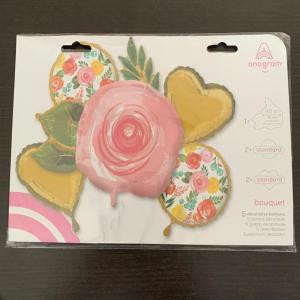 Buchet 5 baloane folie trandafiri 0266353948401