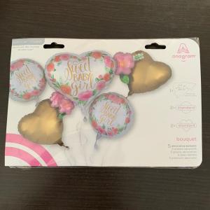 Buchet 5 baloane folie Sweet Baby Girl 0266353851691