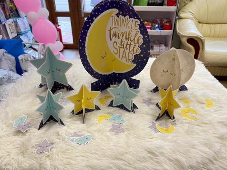 Kit decoratiuni carton masa Twinkle Little star 27 buc [3]