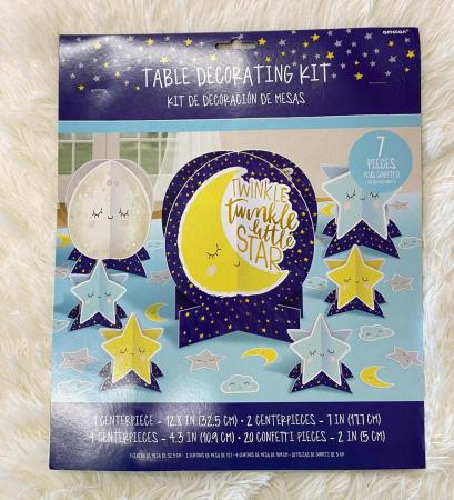 Kit decoratiuni carton masa Twinkle Little star 27 buc [9]