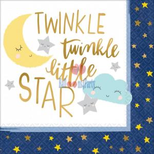 Set 16 servetele Luna nori stele Twinkle Little Star 33 * 33 cm [0]