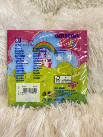 Set 20 servetele hartie Unicorn Multicolor 33 * 33 cm [2]