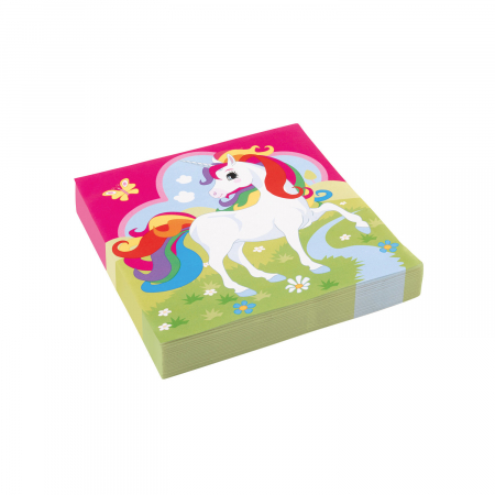 Set 20 servetele hartie Unicorn Multicolor 33 * 33 cm [0]