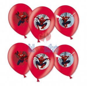 Set 6 baloane latex imprimate Spiderman 27.5cm 00130515590141