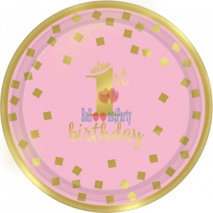 Set 8 farfurii 1 an roz 18 cm 013051760311 [0]