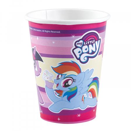 Set 8 pahare carton My Little Pony 250 ml [0]