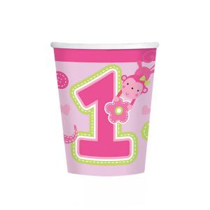 Set 8 pahare Prima aniversare roz fata 266ml 00130515145561