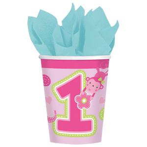 Set 8 pahare Prima aniversare roz fata 266ml 00130515145560