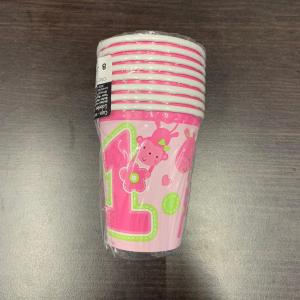 Set 8 pahare Prima aniversare roz fata 266ml 00130515145562