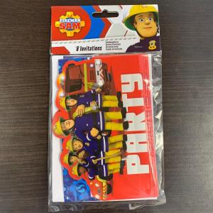 Set 8 invitatii  Pompierul Sam / Fireman Sam 16 x 11cm 0013051743451 [1]