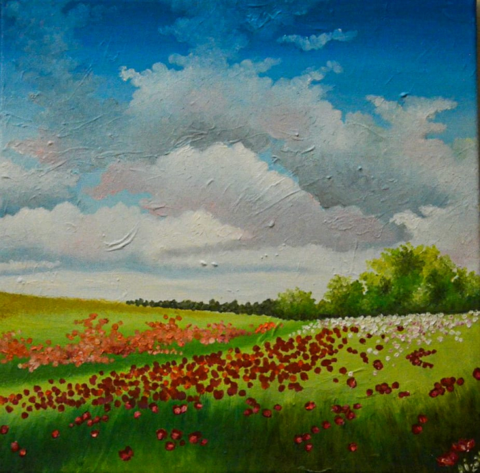 Landscape with poppies 0