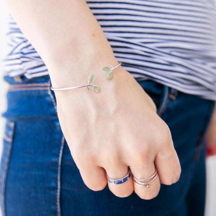 Bratara 'Opal Leaf' Argint 925 0