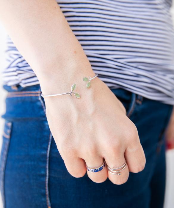 Bratara 'Opal Leaf' Argint 925 3