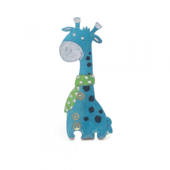 Brosa Albastra -Girafa 0
