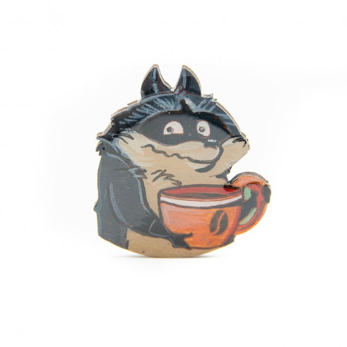 Brosa Lemn COFFEE ADDICT - Raccoon 0