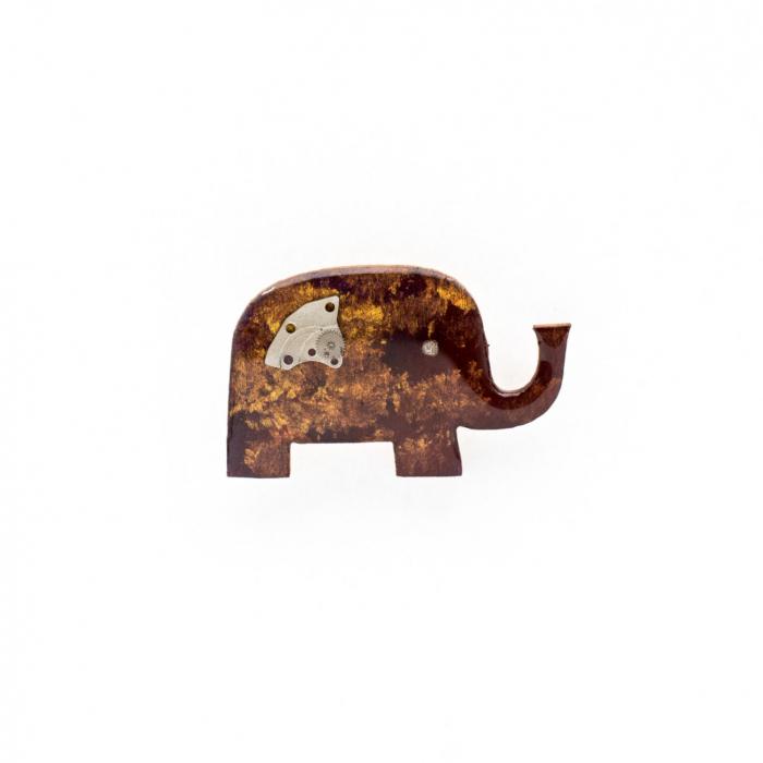 Brosa Elefant cu Trompa in Sus 0
