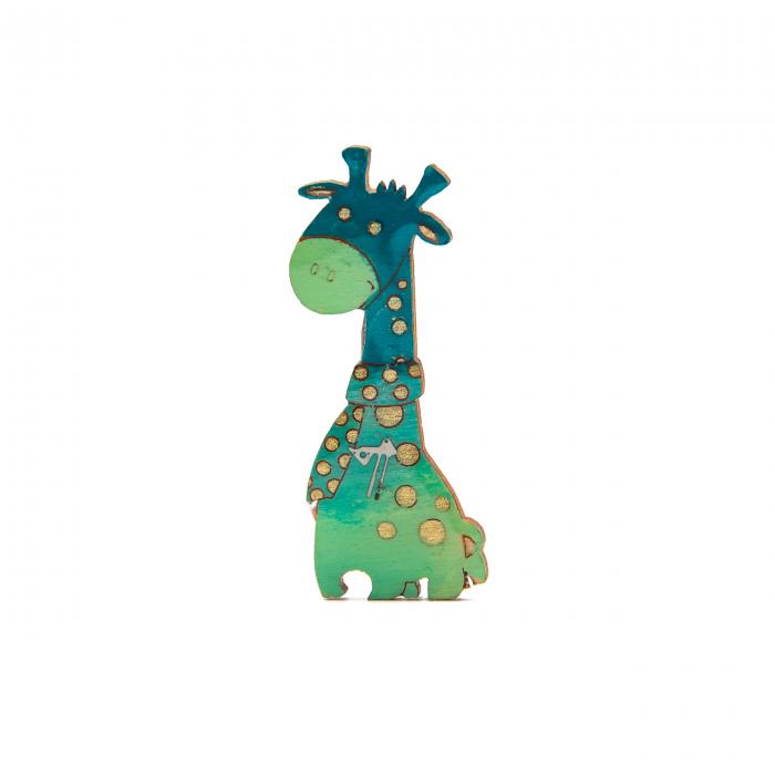 Brosa LEMN Girafa Verde 0