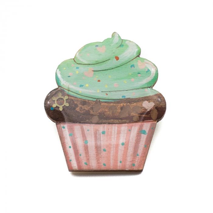 Brosa LEMN Green Cupcake [0]