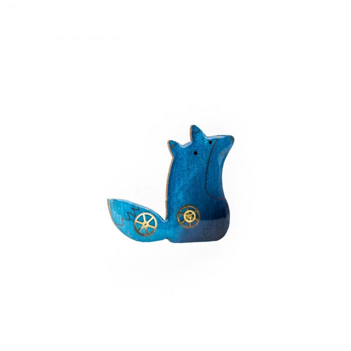 Brosa Handmade Lemn Albastru 0