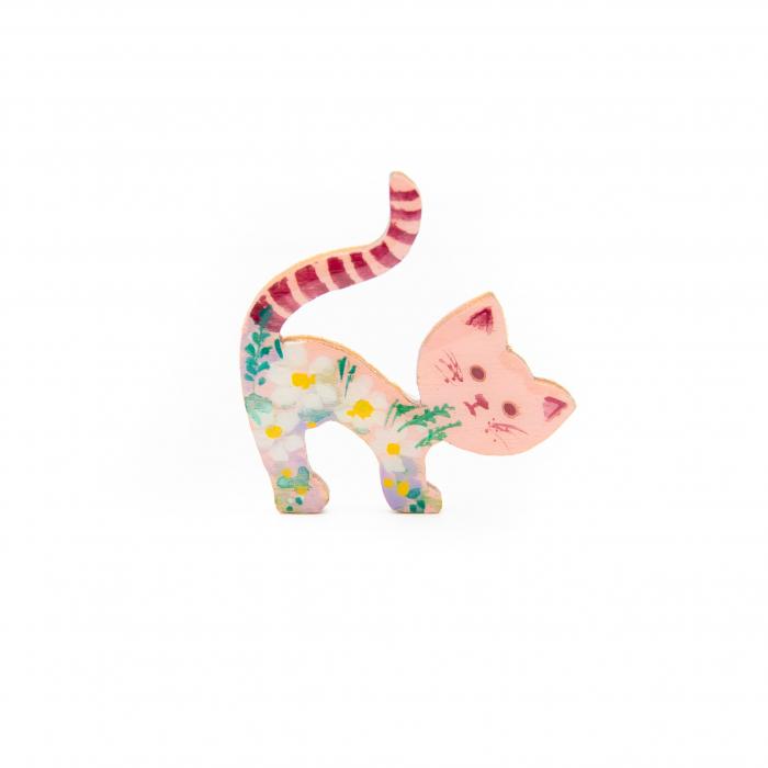 Brosa LEMN Pink Kitten - Floral