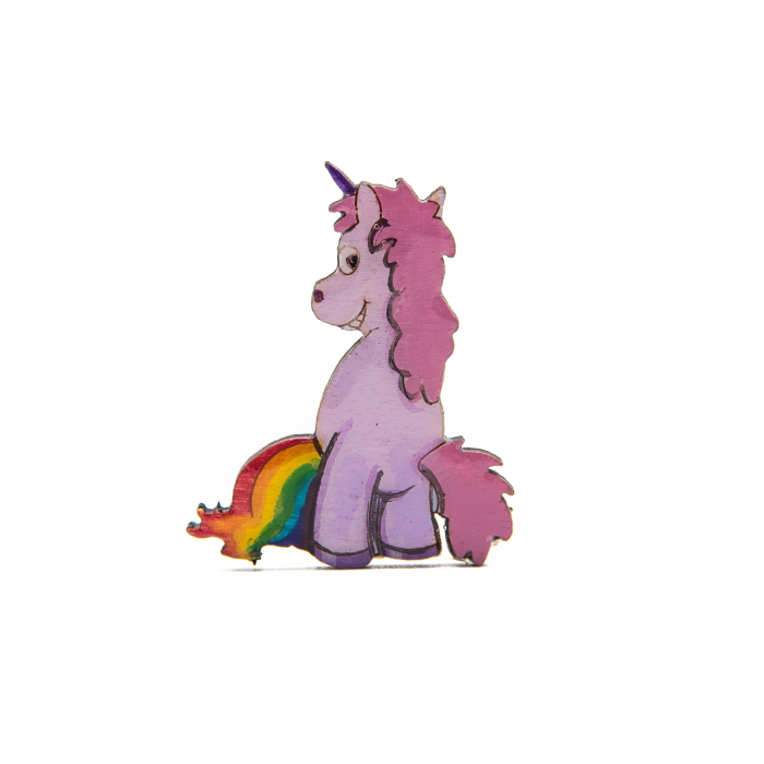 Brosa Lemn Unicorn - Feel the rainbow 0