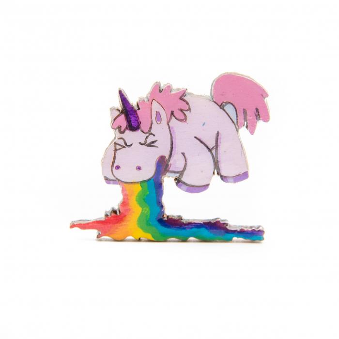 Brosa Lemn Unicorn - Spit the RAINBOW 0