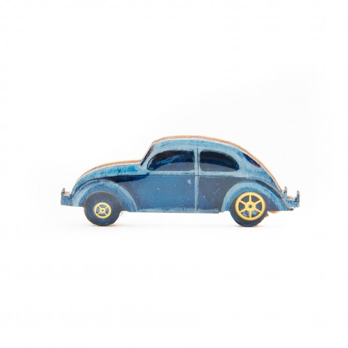 Brosa Lemn VW retro CAR - Albastra 0