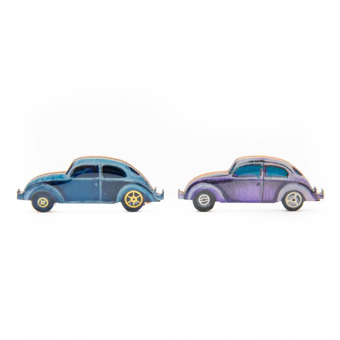 Brosa Lemn VW retro CAR - Albastra 1
