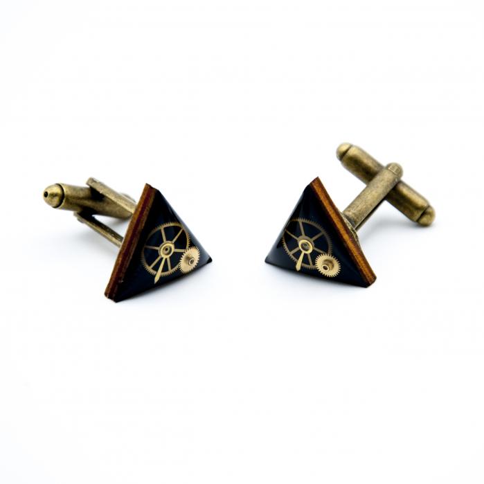 Butoni Camasa Negru - triunghi