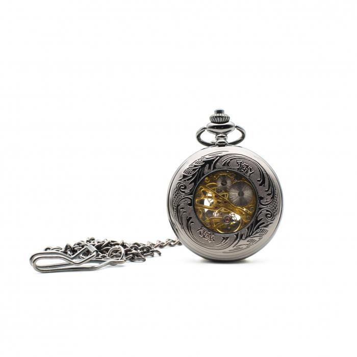 Ceas de Buzunar Mecanic - Colectia SteamWall