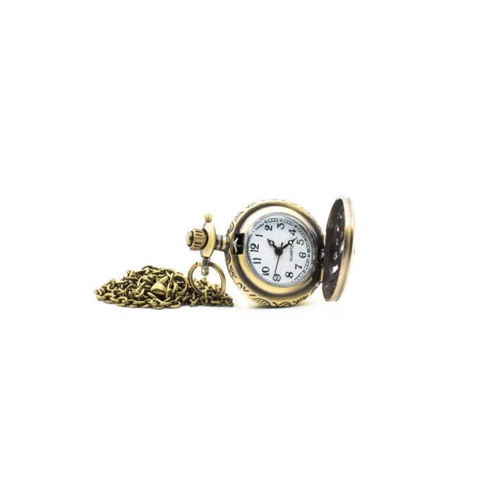 Ceas locket cu lantisor 2