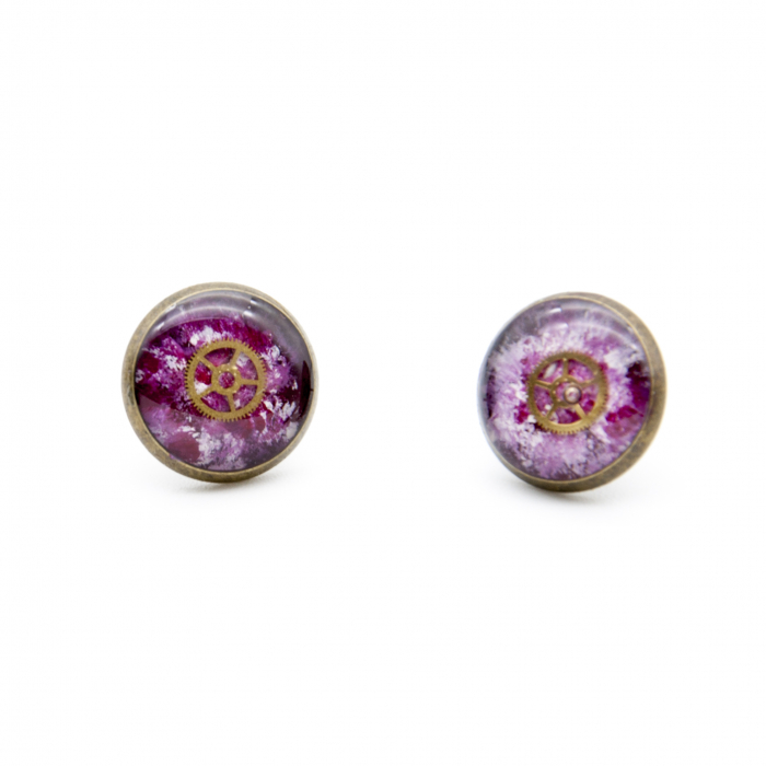 Cercei Surub - Multicolor Roz / Bordo 1