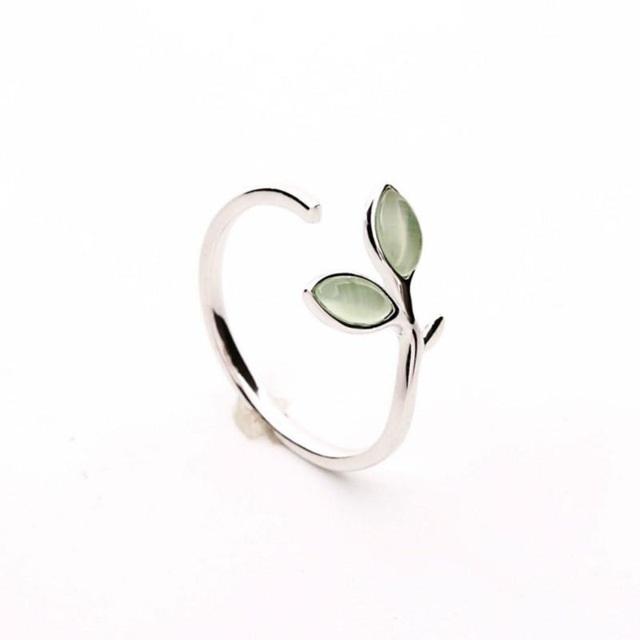 Inel Argint 925 'Opal Leaf'