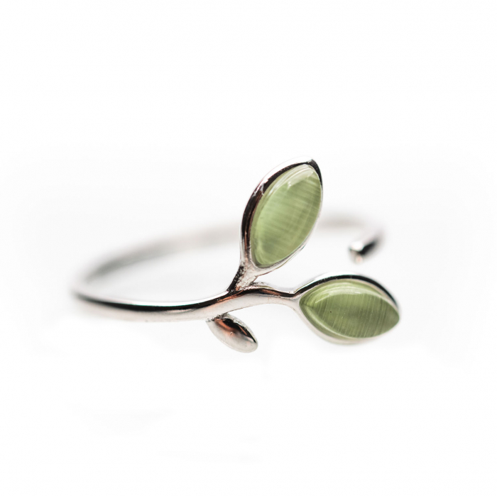 Inel Argint 925 'Opal Leaf' 1