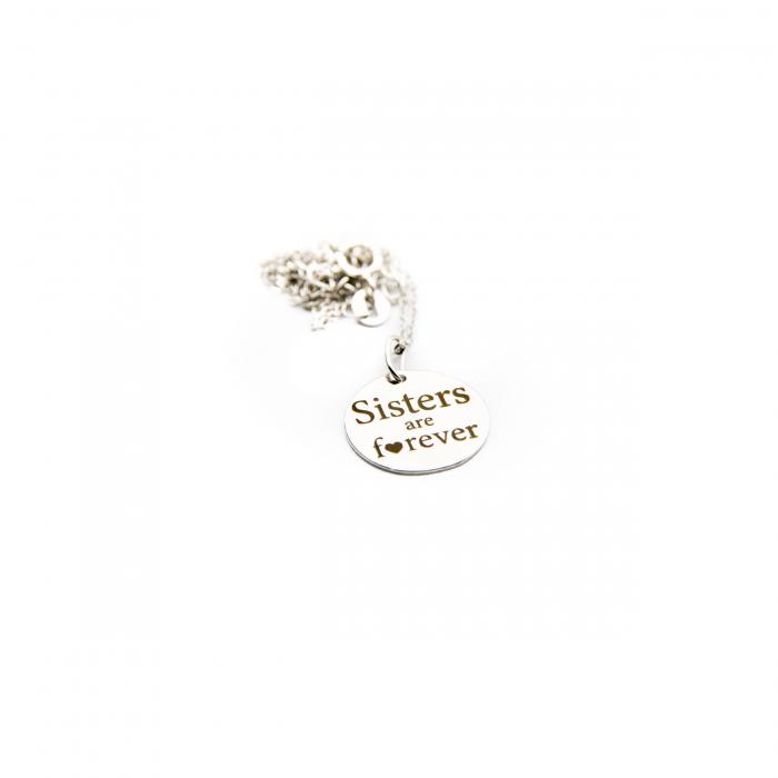 Colier SISTERS ARE FOREVER - Argint 925 placat cu aur 10