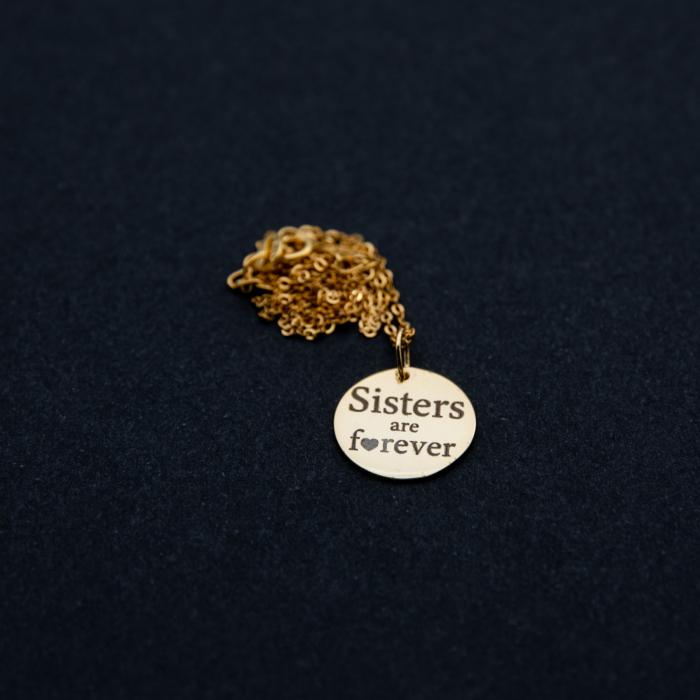Colier SISTERS ARE FOREVER - Argint 925 placat cu aur 8