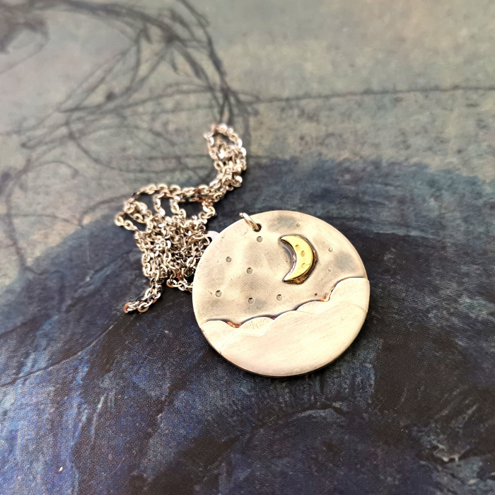 Colier CLOUDY MOON - Argint 925 0